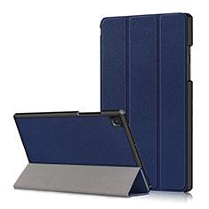 Samsung Galaxy Tab A7 Wi-Fi 10.4 SM-T500用手帳型 レザーケース スタンド カバー サムスン ネイビー
