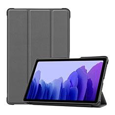 Samsung Galaxy Tab A7 Wi-Fi 10.4 SM-T500用手帳型 レザーケース スタンド カバー L01 サムスン グレー