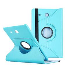 Samsung Galaxy Tab E 9.6 T560 T561用手帳型 レザーケース スタンド サムスン ネイビー