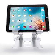 Samsung Galaxy Tab S 10.5 SM-T800用スタンドタイプのタブレット クリップ式 フレキシブル仕様 H09 サムスン ホワイト