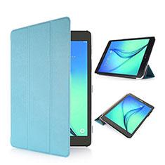 Samsung Galaxy Tab S2 8.0 SM-T710 SM-T715用手帳型 レザーケース スタンド サムスン ブルー