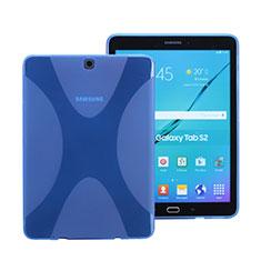 Samsung Galaxy Tab S2 8.0 SM-T710 SM-T715用ソフトケース Xライン クリア透明 サムスン ネイビー