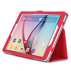 Samsung Galaxy Tab S2 9.7 SM-T810 SM-T815用手帳型 レザーケース スタンド サムスン レッド