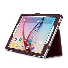 Samsung Galaxy Tab S2 9.7 SM-T810 SM-T815用手帳型 レザーケース スタンド サムスン ブラウン