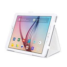 Samsung Galaxy Tab S2 9.7 SM-T810 SM-T815用手帳型 レザーケース スタンド サムスン ホワイト
