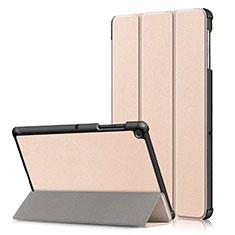 Samsung Galaxy Tab S5e 4G 10.5 SM-T725用手帳型 レザーケース スタンド カバー サムスン ゴールド
