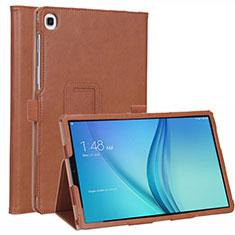 Samsung Galaxy Tab S5e 4G 10.5 SM-T725用手帳型 レザーケース スタンド カバー L01 サムスン ブラウン