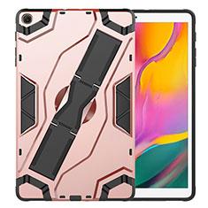 Samsung Galaxy Tab S5e 4G 10.5 SM-T725用ハイブリットバンパーケース スタンド プラスチック 兼シリコーン カバー サムスン ローズゴールド