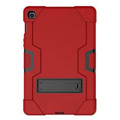 Samsung Galaxy Tab S5e 4G 10.5 SM-T725用ハイブリットバンパーケース スタンド プラスチック 兼シリコーン カバー A03 サムスン レッド