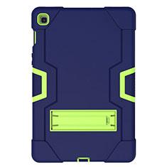 Samsung Galaxy Tab S5e 4G 10.5 SM-T725用ハイブリットバンパーケース スタンド プラスチック 兼シリコーン カバー A03 サムスン ネイビー