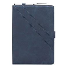 Samsung Galaxy Tab S5e 4G 10.5 SM-T725用手帳型 レザーケース スタンド カバー L03 サムスン ネイビー