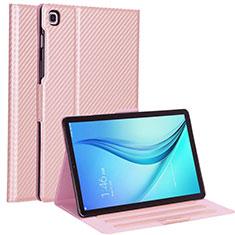Samsung Galaxy Tab S5e 4G 10.5 SM-T725用手帳型 レザーケース スタンド カバー L04 サムスン ローズゴールド