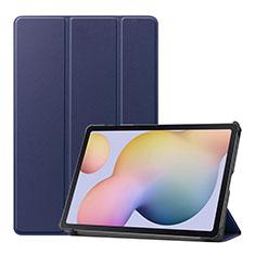 Samsung Galaxy Tab S7 11 Wi-Fi SM-T870用手帳型 レザーケース スタンド カバー L03 サムスン ネイビー