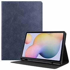 Samsung Galaxy Tab S7 11 Wi-Fi SM-T870用手帳型 レザーケース スタンド カバー L04 サムスン ネイビー