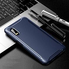 Samsung Galaxy XCover Pro用シリコンケース ソフトタッチラバー ツイル カバー サムスン ネイビー