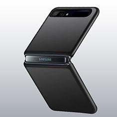 Samsung Galaxy Z Flip 5G用ハードケース プラスチック 質感もマット カバー M01 サムスン ブラック
