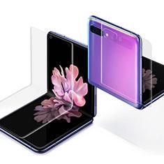 Samsung Galaxy Z Flip用高光沢 液晶保護フィルム 背面保護フィルム同梱 サムスン クリア