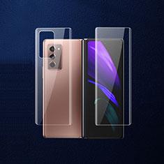 Samsung Galaxy Z Fold2 5G用背面保護フィルム 背面フィルム B02 サムスン クリア