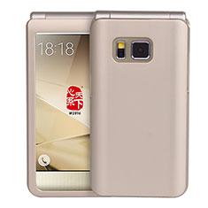 Samsung W(2016)用ハードケース プラスチック 質感もマット サムスン ゴールド