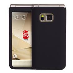 Samsung W(2016)用ハードケース プラスチック 質感もマット サムスン ブラック