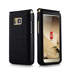 Samsung W(2016)用レザーケース カバー C02 サムスン ブラック