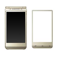 Samsung W(2016)用強化ガラス フル液晶保護フィルム F02 サムスン ゴールド