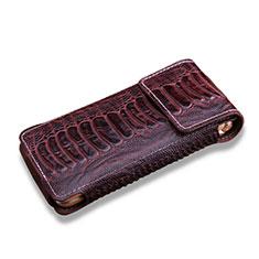 Samsung W(2017)用クロコダイル柄レザーケース カバー サムスン ブラウン