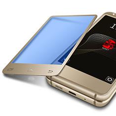 Samsung W(2017)用アンチグレア ブルーライト 強化ガラス 液晶保護フィルム B01 サムスン ゴールド