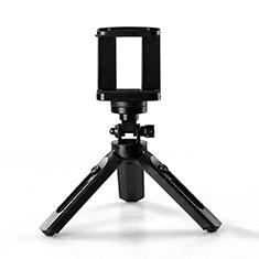 Samsung Galaxy S21 Plus 5G用無線 Bluetooth じどり棒 自撮り棒自分撮りスティック 三脚架 セルフィスティック T02 ブラック
