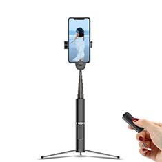 Samsung Galaxy S21 Plus 5G用無線 Bluetooth じどり棒 自撮り棒自分撮りスティック 三脚架 セルフィスティック T20 ブラック