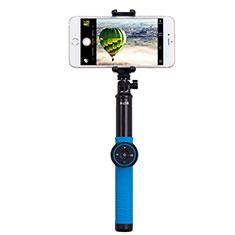 Samsung Galaxy S21 Plus 5G用無線 Bluetooth じどり棒 自撮り棒自分撮りスティック 三脚架 セルフィスティック T21 ネイビー