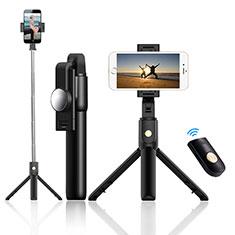Samsung Galaxy S21 Plus 5G用無線 Bluetooth じどり棒 自撮り棒自分撮りスティック 三脚架 セルフィスティック T22 ブラック