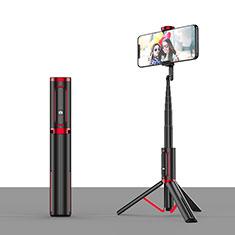 無線 Bluetooth じどり棒 自撮り棒自分撮りスティック 三脚架 セルフィスティック T26 レッド・ブラック