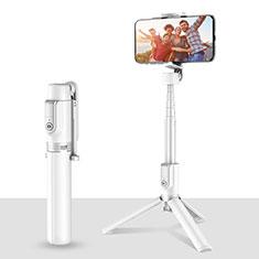 Huawei Ascend G750用無線 Bluetooth じどり棒 自撮り棒自分撮りスティック 三脚架 セルフィスティック T28 ホワイト