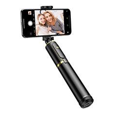 Huawei Maimang 7用無線 Bluetooth じどり棒 自撮り棒自分撮りスティック 三脚架 セルフィスティック T34 ゴールド・ブラック