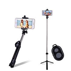 Doogee X70用無線 Bluetooth じどり棒 自撮り棒自分撮りスティック セルフィスティック S24 ブラック