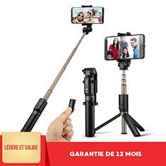 Huawei Nova 3e用無線 Bluetooth じどり棒 自撮り棒自分撮りスティック セルフィスティック S27 ブラック