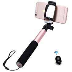 無線 Bluetooth じどり棒 自撮り棒自分撮りスティック セルフィスティック S13 ローズゴールド