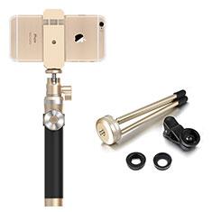 無線 Bluetooth じどり棒 自撮り棒自分撮りスティック セルフィスティック S16 ゴールド