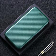 Sharp AQUOS Sense4 Plus用手帳型 レザーケース スタンド カバー L02 Sharp グリーン