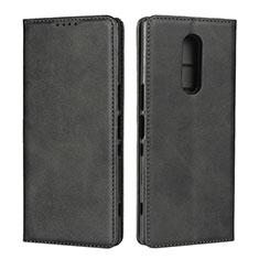 Sony Xperia 1用手帳型 レザーケース スタンド カバー L01 ソニー ブラック