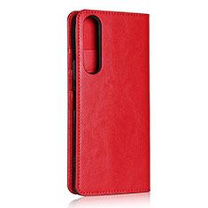 Sony Xperia 1 II用手帳型 レザーケース スタンド カバー L01 ソニー レッド