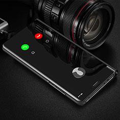 Sony Xperia 1 II用手帳型 レザーケース スタンド 鏡面 カバー L01 ソニー ブラック