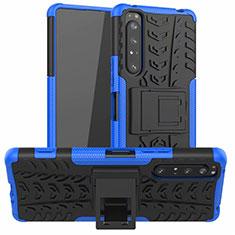 Sony Xperia 1 II用ハイブリットバンパーケース スタンド プラスチック 兼シリコーン カバー ソニー ネイビー