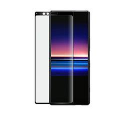 Sony Xperia 1用強化ガラス フル液晶保護フィルム ソニー ブラック