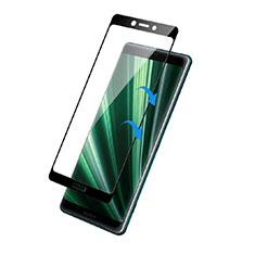 Sony Xperia 1用強化ガラス フル液晶保護フィルム F02 ソニー ブラック