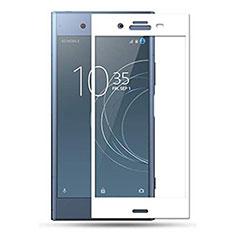 Sony Xperia 1用強化ガラス フル液晶保護フィルム F03 ソニー ホワイト