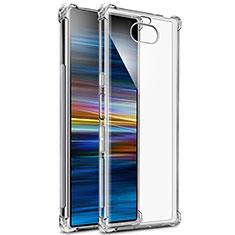 Sony Xperia 10用極薄ソフトケース シリコンケース 耐衝撃 全面保護 クリア透明 T03 ソニー クリア