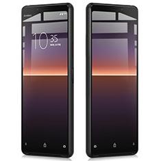 Sony Xperia 10 II用強化ガラス フル液晶保護フィルム ソニー ブラック