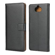 Sony Xperia 10 Plus用手帳型 レザーケース スタンド ソニー ブラック